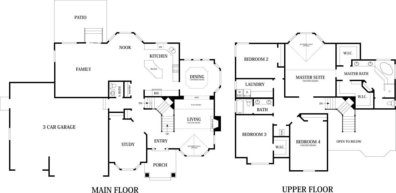 Willow Home Designs | Home Builders in Utah - Perry Homes on colonial house plans with garage, ranch house plans with garage, split level house plans with garage, split entry house plans with garage,