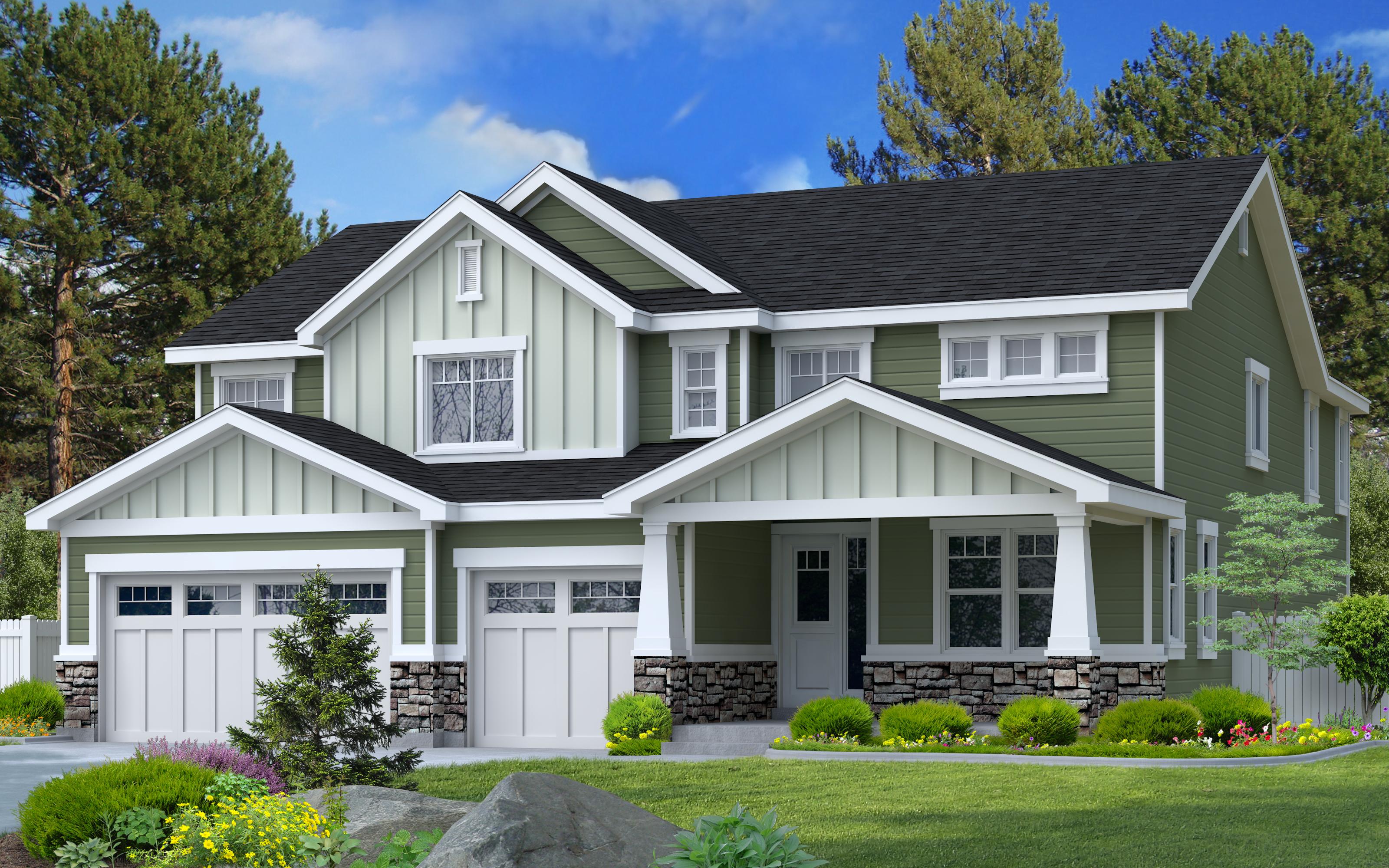 Ash floor plan custom designed by Perry Homes, Utah.