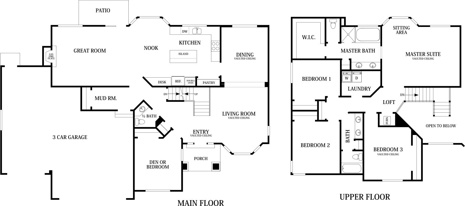 Harmony Home Designs | Home Builders in Utah - Perry Homes on double master suite house plans, mastersuite house plans, two 2 car garage floor plans, two master closet floor plans, second master suite house plans, two bedroom floor plans, two family floor plans,
