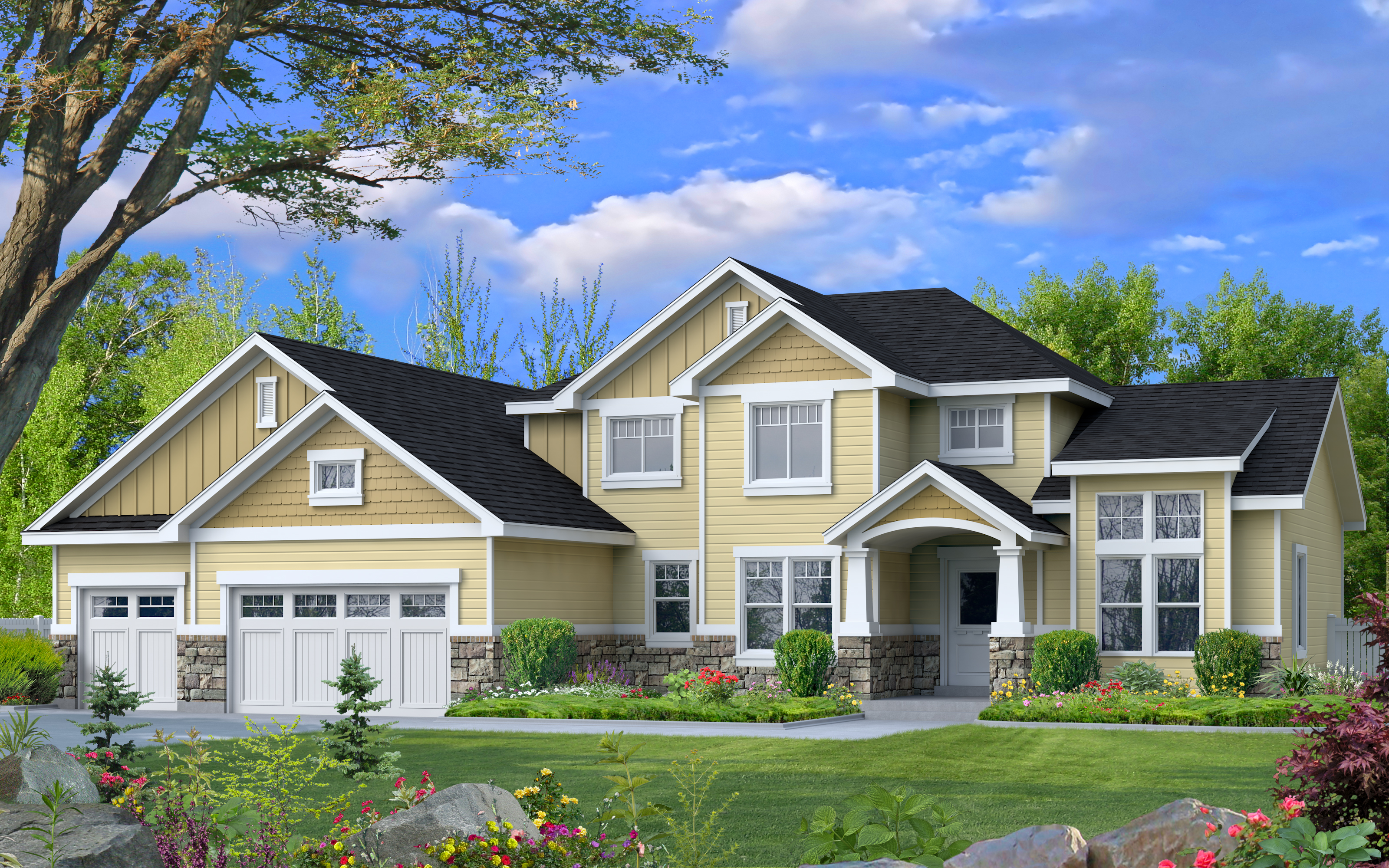 Spruce floor plan custom designed by Perry Homes Utah.