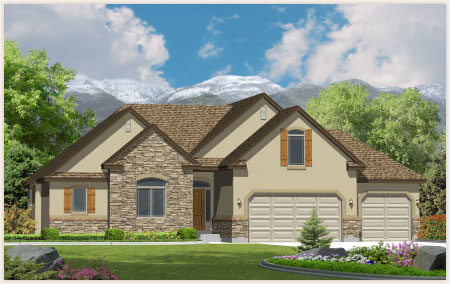The Cedar is a beautiful custom home by Perry Homes, Utah.