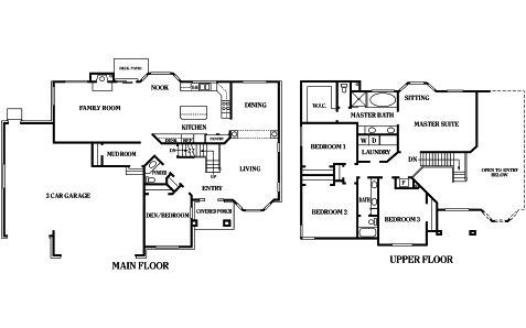 The Harmony Floor Plan, Designed By Perry Homes.