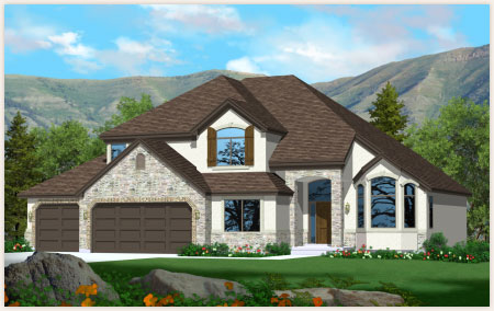 Harmony floor plan designed by Perry Homes Utah.