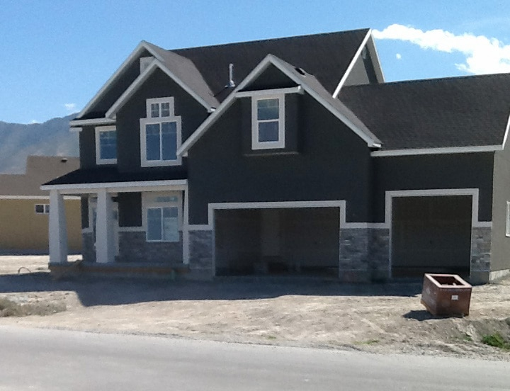 Under construction Perry Homes Aspen home.