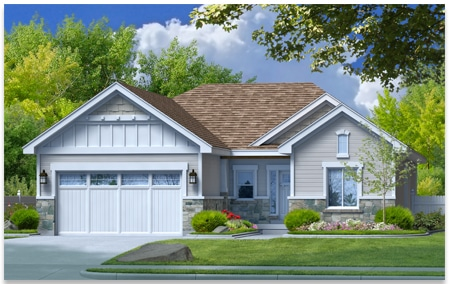 Rendering of Harrison home design.